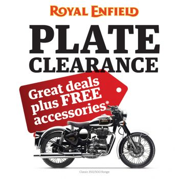 Royal Enfield - Plate Clearance